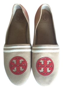 Tory Burch Ballet Tan khaki red Flats