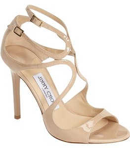 Jimmy Choo NUDE patent Sandals