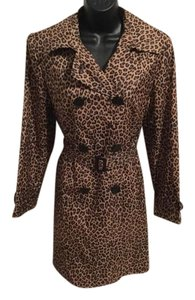 Gallery Leopard Animal Dress Trench Coat