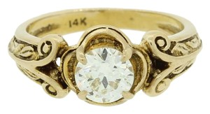 Other 1880s Antique Victorian 14k Gold .75ct Diamond Engagement Ring EGL