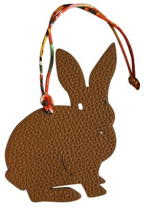 Hermès Hermes Petit H Large Rabbit Leather Charm