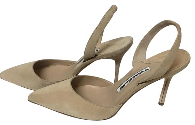 Item - Cream Suede Slingbacks Hand Made In Italy Pumps Size US 7 Regular (M, B)