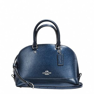 Coach Satchel in Metallic Midnight