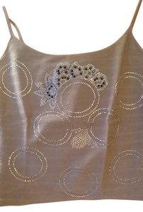 Giorgio Armani Evening Party Top Gold with silver and black rhinestones