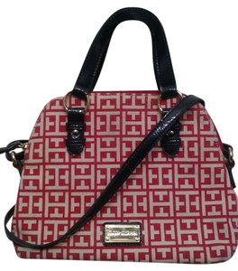 Tommy Hilfiger Satchel in Navy and Fuchsia