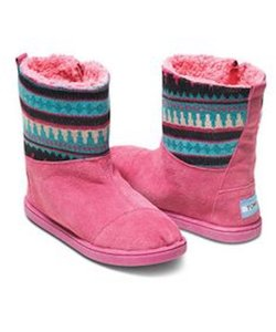 TOMS Pink Boots