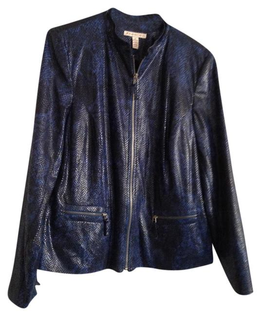 Preload https://img-static.tradesy.com/item/20058023/jm-collection-blue-and-black-jacket-size-os-one-size-0-1-650-650.jpg
