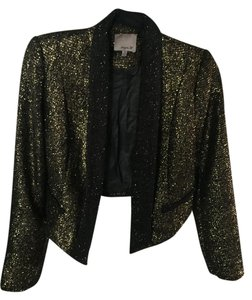Aryn K Black and gold Jacket