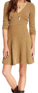Free People short dress Golden brown on Tradesy