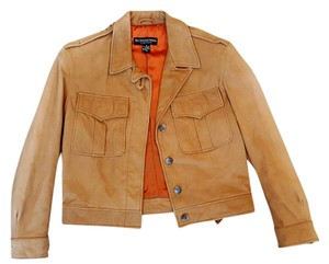 J. Peterman Leather Bomber Riding Equestrian Motorcycle Jacket