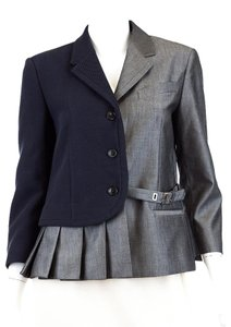 VIKTOR & ROLF Cotton Mohair Grey/Navy Blazer