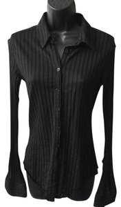 Express Fitted Button Down Button Down Shirt Black