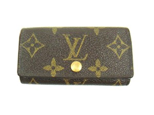 Louis Vuitton Multicles 4 Monogram Canvas Leather Key Holder Case France