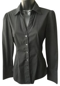 Express Fitted Button Down Shirt Black