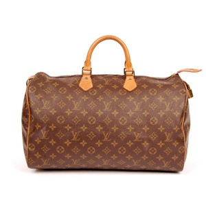 Louis Vuitton Monogram Speedy 40 Speedy Totes Satchel in Brown