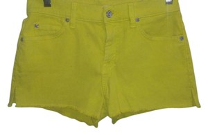 7 For All Mankind Cut Off Shorts Yellow
