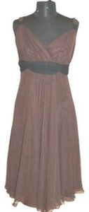 Watters Espresso Chiffon 336 Espresso/Black (A27-15) Modern Bridesmaid/Mob Dress Size 6 (S)