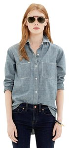 Madewell Chambray Button Down Shirt Blue