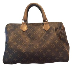 Louis Vuitton Vintage Monogram Canvas Satchel in Brown/tan