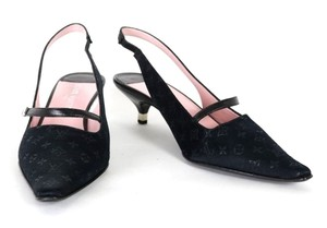 Louis Vuitton Slingbacks Black Pumps