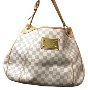 Louis Vuitton White and Blue Travel Bag