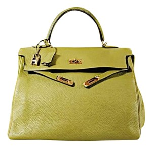 Hermès Hermes Kelly Clemence Tote in Lichen Green