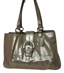 Coach No Tags Satchel in Metallic Gold