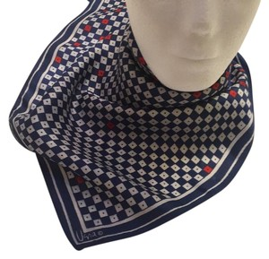 Vera Neumann Wearable Midcentury Art Scarf Vera Vintage Red White Blue