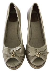 Tory Burch Charm Tan Wedges