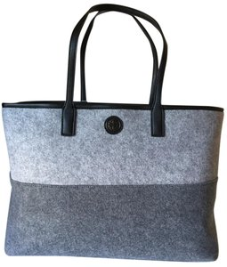 Tory Burch Tote in GRAPHITE GRAY/LIGHT GRAY
