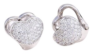 Other Hearts CZ Leverback Dainty Stud Encrusted Earrings