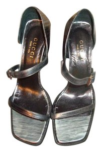 Gucci Leather Strappy Shades of Gray Sandals