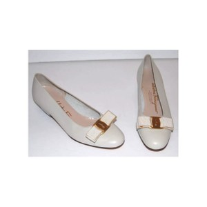 Salvatore Ferragamo White cream Flats