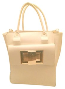 JustFab Winter Large Satchel in White