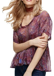 Free People Top Wine