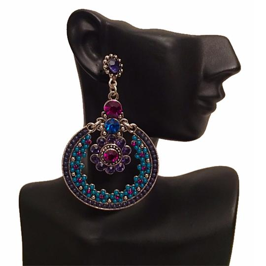 Preload https://item3.tradesy.com/images/purple-multicolor-burnished-silver-new-statement-earrings-20059042-0-2.jpg?width=440&height=440