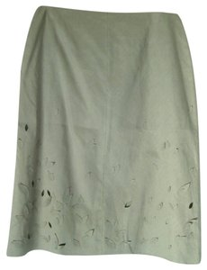 Anne Klein Cotton Pencil Sz 14 Skirt Olive Green