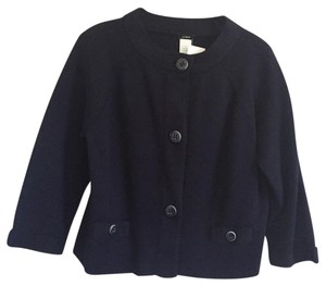 J.Crew Knit Cotton Navy Blazer