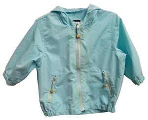 The Children's Place Spring Fall Hooded Elastic Light Blue Jacket