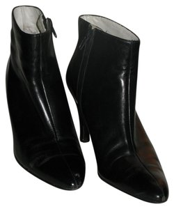 Robert Clergerie Made In France Leather High Heel High Heel Ankle Black Boots
