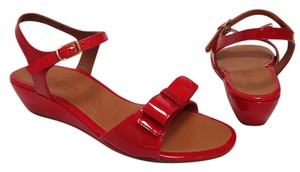 Paul Green Patent Leather Wedge Dressy Date Night Prom Red Sandals