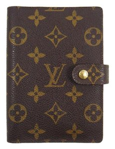 Louis Vuitton Agenda PM Monogram Canvas Leather Notebook Planner Cover w/ Dustbag