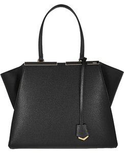 Fendi 3jours New Textured Leather Tote in Black