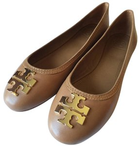 Tory Burch royal tan, gold Flats