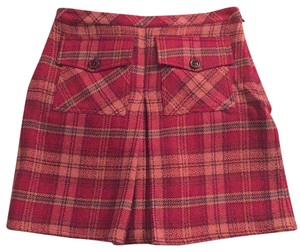 Dolce&Gabbana Dolce D&g Mini Plaid Mini Skirt Red