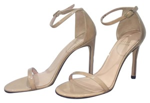 Stuart Weitzman Tan patent leather Pumps