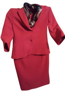 Ann Taylor Blazer with pencil skirt with back pleat.