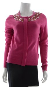 Tory Burch Beaded Wool Cardigan Sweater