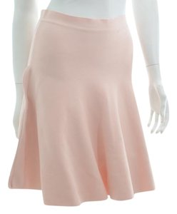 BCBGMAXAZRIA Body Con Pink Flare Skirt Dusty Rose
