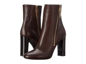 Burberry Dark Tan Leather Boots